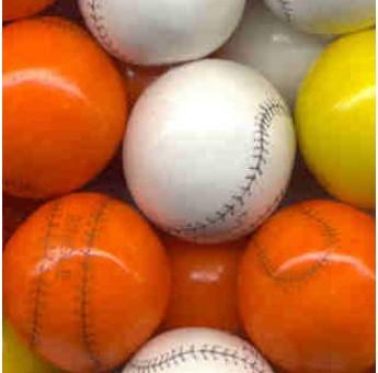 Baseball Gumballs ---  850 count