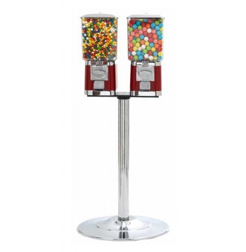 Double Pro Gumball Machine with stand