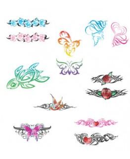 Tribal Glitter Tattoos