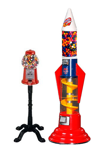 Home and commercial gumball machines